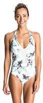 Roxy Women's Shady Palm V Neck One Piece Swimsuit