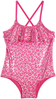 Pink Platinum Pink Metallic Leopard One-Piece - Infant & Toddler