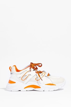 Nasty Gal Womens We're Comparing Notes Two Tone Chunky Sneakers - Beige