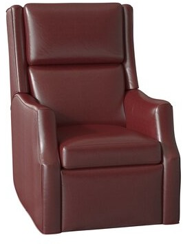 Bradington-Young Ryder Faux Leather Lifft Assist Recliner Body Fabric: Outsider Cloud, Cushion Fill: Premier Down, Reclining Type: Power Button