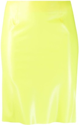 Kwaidan Editions Leather-Effect Fitted Skirt