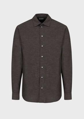 Emporio Armani Cotton Flannel Shirt