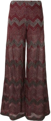 M Missoni Zigzag Embroidered Trousers