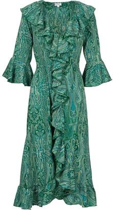 Felicity Dress- Green Ripple