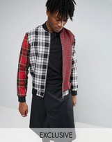 Reclaimed Vintage Plaid Bomber Jacket