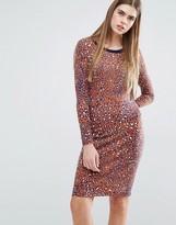 Baum und Pferdgarten Elana Bodycon Dress in Leopard Print