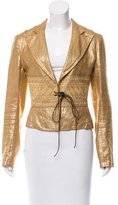 Dries Van Noten Metallic Linen Blazer