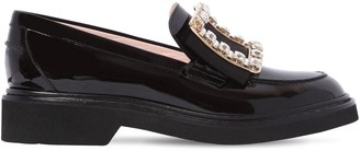 Roger Vivier 30mm Tres Vivier Patent Leather Loafers
