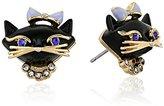 Kate Spade Cat Studs Black/Multi-Colored Stud Earrings