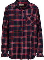 Current/Elliott The Prep School plaid cotton-flannel shirt