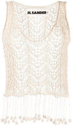 Jil Sander Crochet Knit Vest