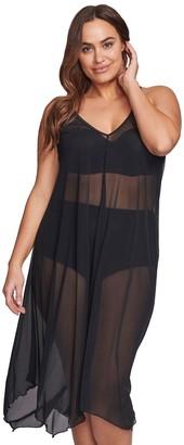 Plus Size Mazu Swim Flowy Mesh Tank Dress Coverup