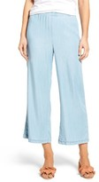 Cupcakes And Cashmere Women's Dancer Crop Flare Chambray Pants
