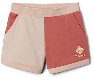 Columbia Kids French Terry Shorts (Little Kids/Big Kids) (Cirrus Grey Heather) Girl's Shorts