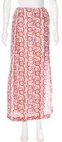 Anna Sui Silk Midi Skirt