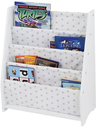 Lloyd Pascal Hammock Style Bookshelf with Printed Star Fabric