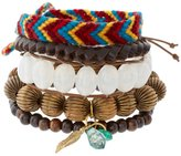 ASOS Beaded Wristwear Pack with Multicoloured Woven Wristband