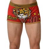 Ed Hardy Men's Lets Go Bulldogs Vintage Trunk - Army