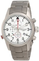 Momentum Titan III Men's Quartz Watch with White Dial Analogue Display and Grey Titanium Bracelet 1M-SP32W0