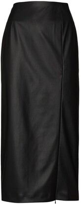 BERNADETTE Scarlet faux-leather skirt