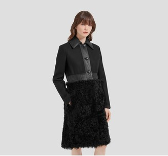 Mulberry Angelina Coat Black Curly Shearling