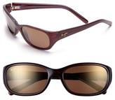Maui Jim Women's 'Kuiaha Bay' 55Mm Polarized Sport Sunglasses - Dark Sandstone