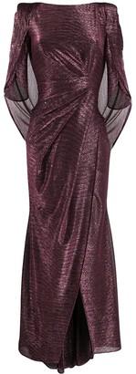 Talbot Runhof Ruched Detail Gown