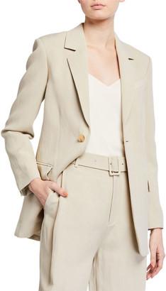 Co Lightweight Twill Tie-Waist Blazer Jacket