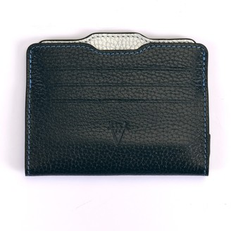 Atelier Hiva Double Card Holder Petrol Blue & Silver