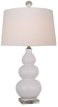 East Enterprises Inc Porcelain Table Lamp, White