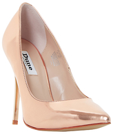 Dune Blaze Stiletto Heeled Court Shoes, Rose Gold