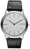 Skagen Men's Croc Embossed Leather Watch