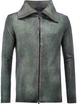 Avant Toi wing collar slim-fit jacket