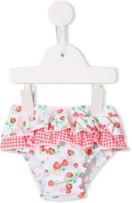 Sunuva Strawberry Ruffle Bikini Bottoms