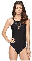 Athena Women's Cabana Solids Avisa Molded Soft Cup One Piece Swimsuit