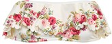 Zimmermann Honour floral bandeau bikini top