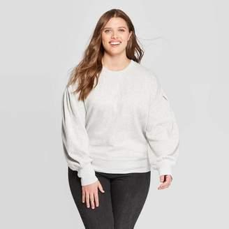 Universal Thread Women's Plus Size Puff Sleeve Crewneck Sweatshirt - Universal ThreadTM