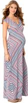 Motherhood Jessica Simpson Cap Sleeve Maternity Maxi Dress