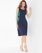 Soma Intimates Sleeveless A-line Short Dress Dynasty Green/Navy