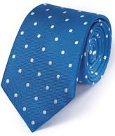 Charles Tyrwhitt Royal and White Silk Classic Spot Tie