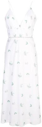 Markarian V-Neck Embroidered Dress