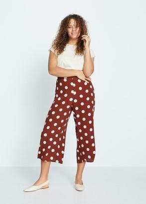 MANGO Violeta BY Printed crop pants burnt orange - S - Plus sizes