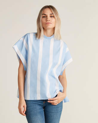 Hache Striped Dolman Sleeve Blouse