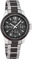 MC M&c Men's Classic Chronograph Style &Silver-tone Watch
