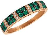 Le Vian 14ct Strawberry Gold Emerald & Diamond Ring
