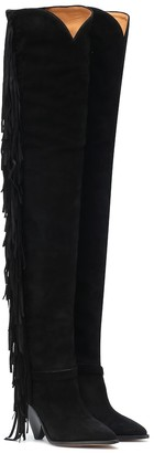 Isabel Marant Lafstee suede over-the-knee boots