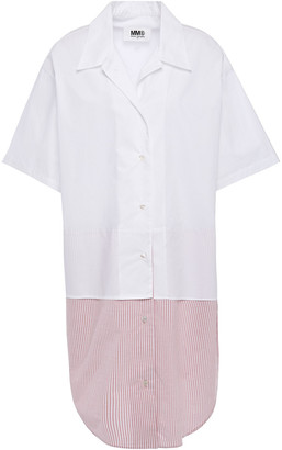 MM6 MAISON MARGIELA Paneled Cotton-poplin Shirt Dress