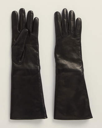 Portolano Leather Gloves With Real Fur and Cashmere