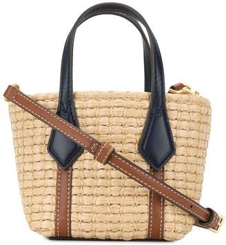 Tory Burch Perry straw mini tote