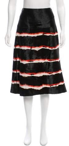 Derek Lam Ponyhair Printed Skirt w/ Tags